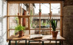 intérieur et extérieur rustique rénové belle demeure de campagne