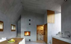 cuisine sol mur en béton