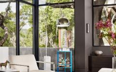 séjour spacieux moderne vue sur jardin