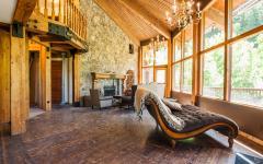 intérieur séjour maison rustique luxe
