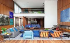 séjour bois ambiance retro maison design