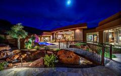 maison de luxe vue de nuit