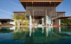 Piscine extérieure de luxe maison moderne de luxe