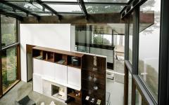 intérieur agencé originalement maison d'architecte moderne