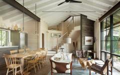 ambiance intérieur rustique séjour chalet