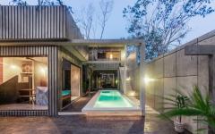 piscine intérieure maison de luxe