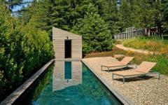 piscine extérieure maison en bois