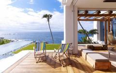 magnifique vue panoramique de la villa de luxe