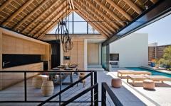 terrasse ouverte piscine villa de vacances