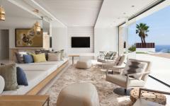 séjour vue panoramique sur la mer architecture contemporaine villa
