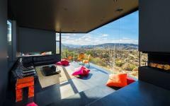 Séjour de luxe maison contemporaine avec vue