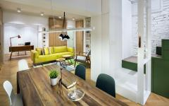 grande table en bois salle à manger appartement moderne