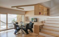 intérieur contemporain en bois massif