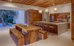 cuisine & salle à manger en bois exotique