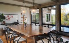 salle à manger table bois massif