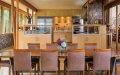 salle à manger maison en bois secondaire