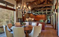 salle à manger en bois massif
