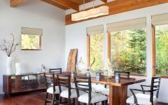 salle à manger résidence secondaire vacances de ski
