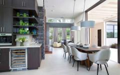 Salle à manger design moderne maison contemporaine