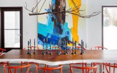 salle à manger moderne maison de vacances prestige