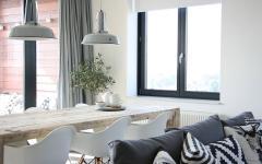 salle à manger table rustique nuance industrielle scandinave