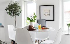 belle salle à manger en blanc