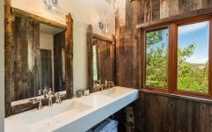 salle de bains en bois design rustique