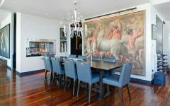 salle à manger luxe appartement new york