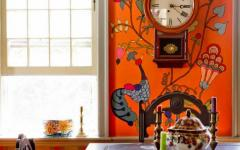 salle à manger murs orange