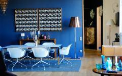 salle à manger design décoration bleu