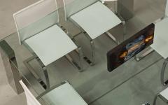 mobilier salle à manger loft futuriste industriel luxe