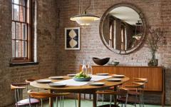 salle à manger aspect industriel loft