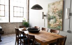 table salle à manger bois industriel