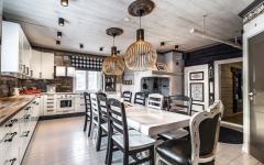 Cuisine salle à manger rustique élégant