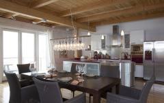 cuisine moderne maison sur pilotis sur la plage