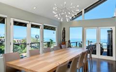 salle à manger avec vue panoramique océan
