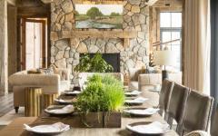 salle à manger rustique table chaises design