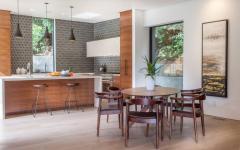 mobilier en bois minimaliste rétro maison moderne neuve