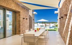 extérieur salle à manger villa de luxe location vacances ibiza
