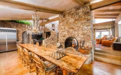 salle à manger intérieur rustique résidence de prestige