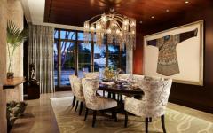 salle à manger résidence luxe éclectique