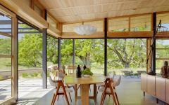 belle et claire salle à manger maison moderne écologique