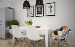 salle à manger design scandinave épuré