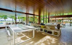 mezzanine salle à manger résidence de luxe