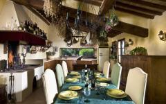 Cuisine villa rustique de luxe