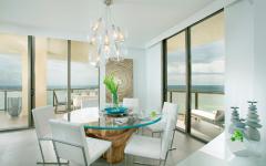salle à manger vue panoramique sur la mer
