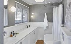 salle de douche chambre amis appartement moderne