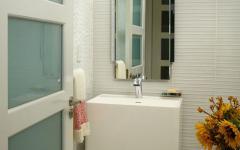 cabinet toilettes design moderne en blanc