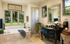 salle de bain design rustique