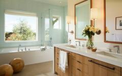 salle de bains baignoire rustique